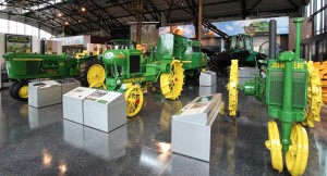 Tractor lineup at the John Deere Pavilion in Davenport (c) Q.C.CVB