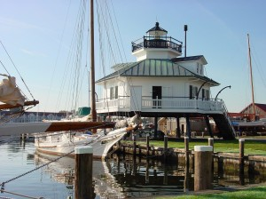 "Das ""Hooper Strait Lighthouse"" gehört zum Chesapeake Bay Maritime Museum. (c) Capital Region USA"