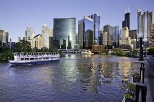 Chicago - Architecture - Willis Tower and the Chicago River - (C) Cesar Russ Photography