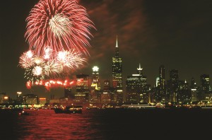 Fireworks erleuchten Chicago und den Lake Michigan (C) City of Chicago