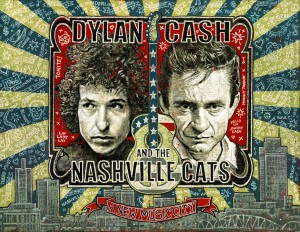 "Das Ausstellungsplakat ""Dylan, Cash And The Nashville Cats: A New Music City"" von Jon Langford - Foto: Country Music Hall of Fame & Museum."