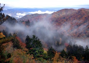 Die Great Smoky Mountains im Herbstgewand. (c) Tennessee Tourism